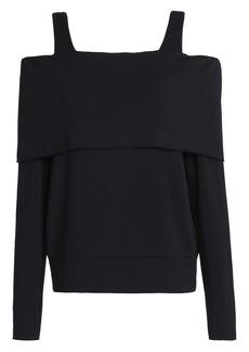 Bailey 44 Woman Cold-shoulder Stretch-modal Fleece Top Black