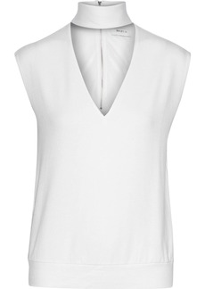 Bailey 44 Woman Cutout Modal-blend Jersey Top White