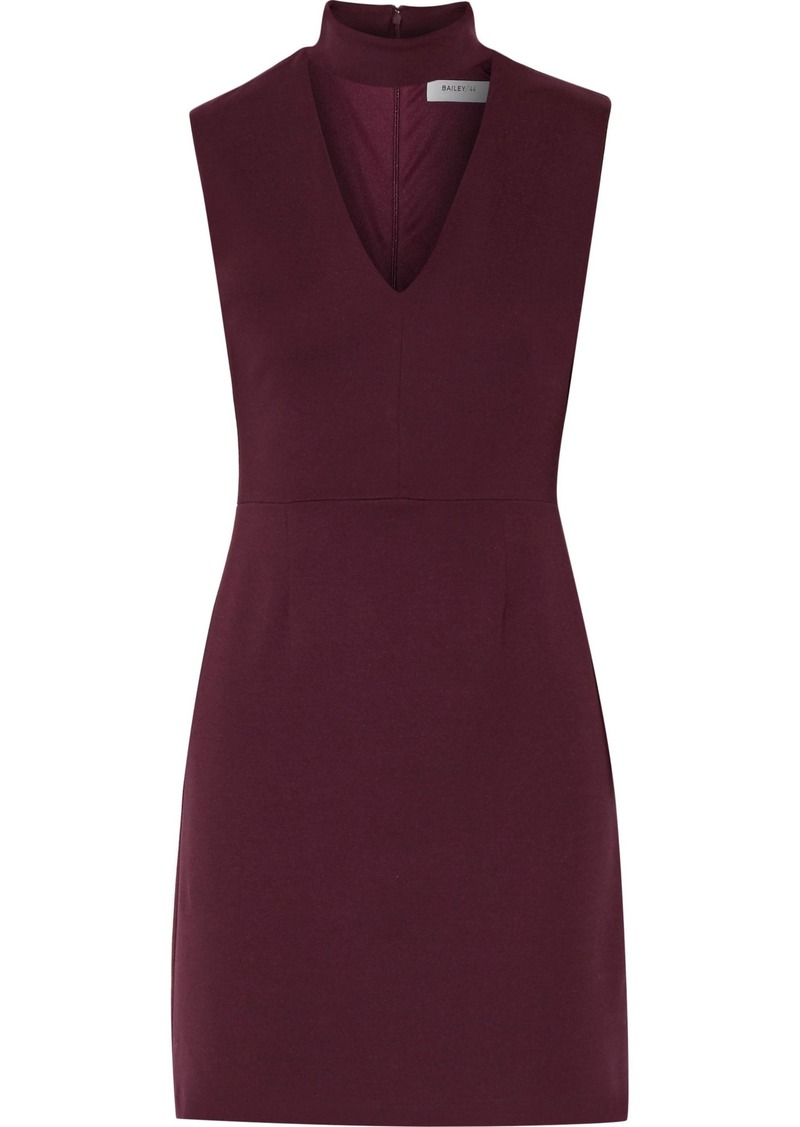 Bailey 44 Woman Cutout Ponte Mini Dress Burgundy