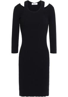Bailey 44 Woman Cutout Ribbed-knit Mini Dress Midnight Blue