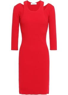 Bailey 44 Woman Cutout Ribbed-knit Mini Dress Red