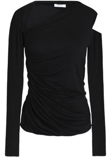 Bailey 44 Woman Cutout Ruched Stretch-jersey Top Black