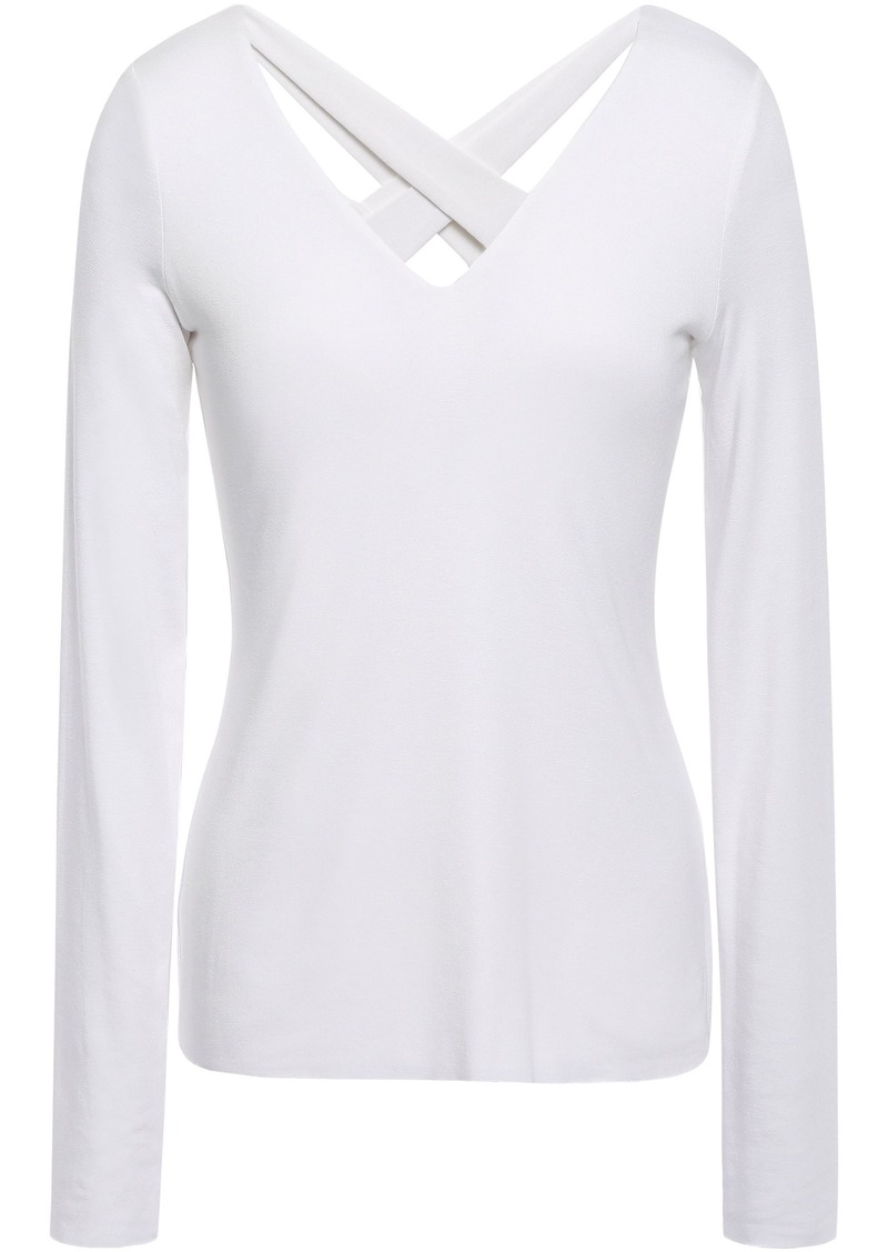 Bailey 44 Woman Cutout Stretch-jersey Top White