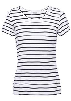 Bailey 44 Woman Cutout Striped Jersey T-shirt White
