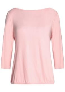 Bailey 44 Woman Draped Wrap-effect Silk-jersey Top Baby Pink