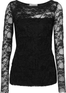 Bailey 44 Woman Dripping In Lace Layered Lace Top Black