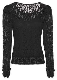 Bailey 44 Woman Jenna Gathered Stretch-lace Top Black