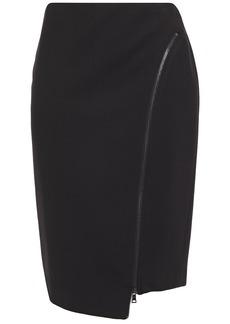 Bailey 44 Woman Josie Asymmetric Zip-detailed Ponte Pencil Skirt Black
