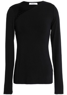 Bailey 44 Woman Karate Lace-up Stretch-jersey Top Black
