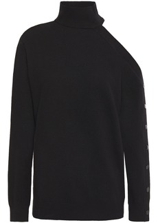 Bailey 44 Woman Kitty Cutout Snap-detailed Knitted Sweater Black
