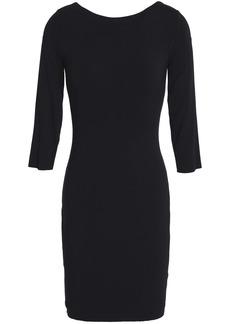 Bailey 44 Woman Lace-up Jersey Mini Dress Black