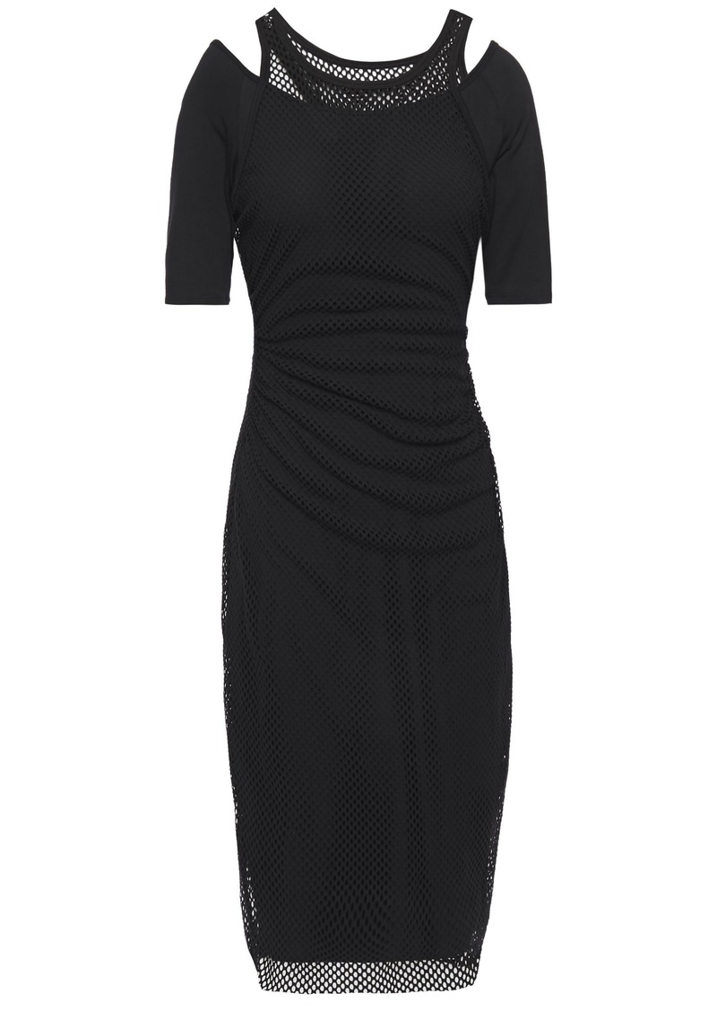 Bailey 44 Woman Layered Mesh And Jersey Dress Black