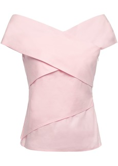 Bailey 44 Woman Layered Stretch-cotton Poplin Top Baby Pink