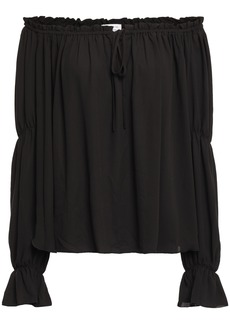 Bailey 44 Woman Off-the-shoulder Crepe Top Black