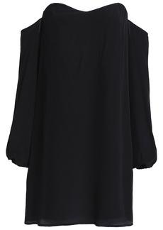 Bailey 44 Woman Off-the-shoulder Silk Mini Dress Black