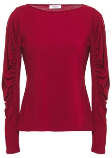 Bailey 44 Woman Olivia Ruched Stretch-jersey Top Claret