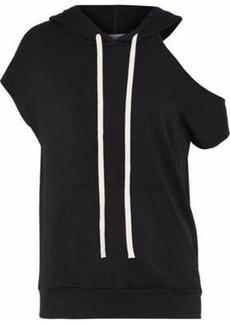 Bailey 44 Woman Sharm El Sheikh Cutout Stretch-modal Fleece Hoodie Black