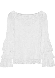 Bailey 44 Woman Sorority Tiered Lace Blouse White