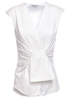 Bailey 44 Woman Tarte Stretch-cotton Poplin Wrap Top White