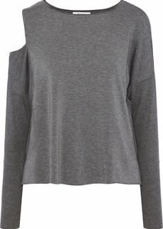 Bailey 44 Woman The Only One Cutout Stretch-modal Jersey Top Gray