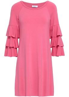 Bailey 44 Woman Tiered Jersey Mini Dress Pink