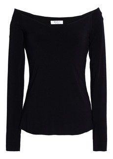 Bailey 44 Woman Tracking Shot Lace-up Stretch-jersey Top Black