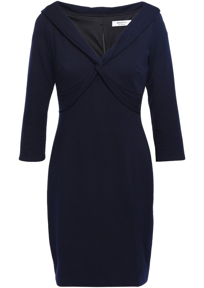 Bailey 44 Woman Twist-front Stretch-jersey Mini Dress Midnight Blue