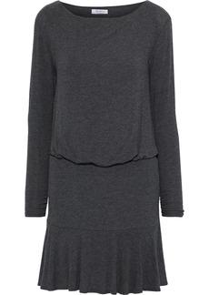 Bailey 44 Woman Zoe Gathered Mélange Jersey Mini Dress Anthracite