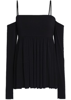 Bailey 44 Woman Zombie Cold-shoulder Stretch-modal Jersey Top Black