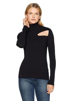 Bailey 44 Women's Audrey Cut Out Turtleneck Top  XS