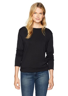 Bailey 44 Women's Bardot Lace up Back Criss Cross Sweatshirt  L