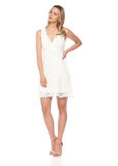 Bailey 44 Women's City Slicker Deep V Mini Dress  M