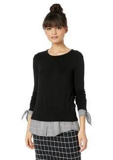Bailey 44 Women's Double Date Tie Cuff Sweater Knit  M