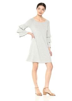 Bailey 44 Women's Dovetail Tiered Sleeve Fleece Dress  L