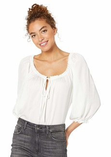 Bailey 44 Women's Ethereal Flowy Top with Neck and Wrist Hem Rouching