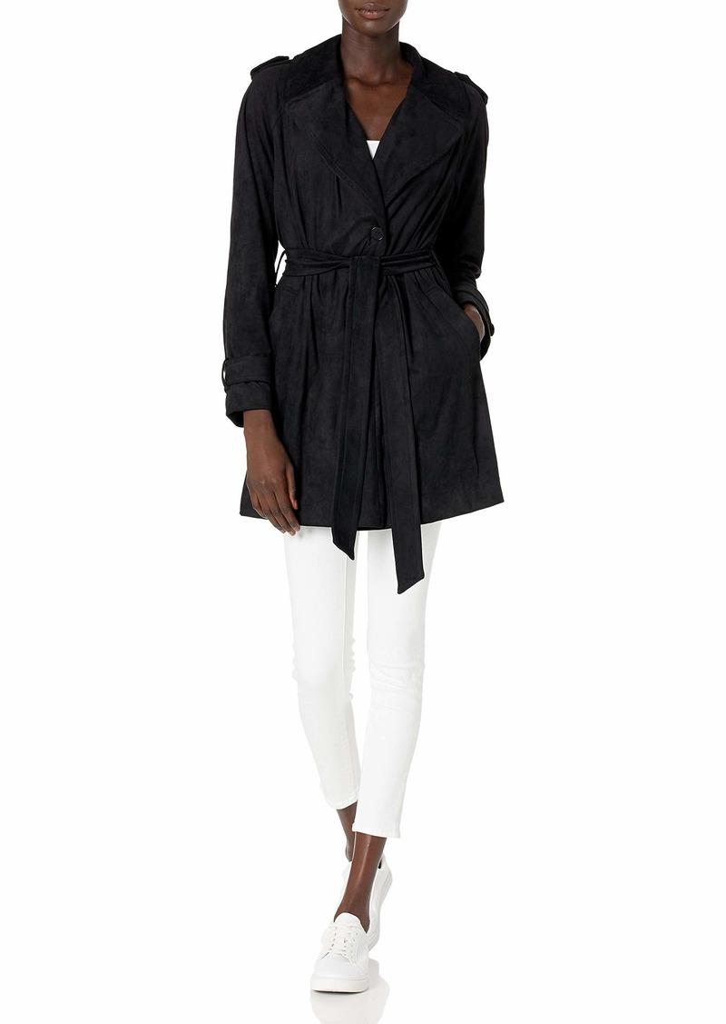 Bailey 44 Women's Faux Suede Belted Jacket  L
