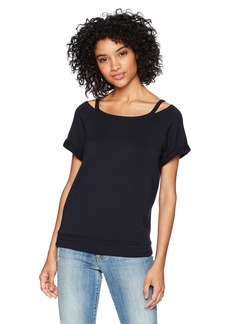 Bailey 44 Women's Forget me not Short Sleeved Cutout top  M