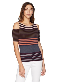 Bailey 44 Women's Garame Masala Open Shoulder Cut Out Top  M