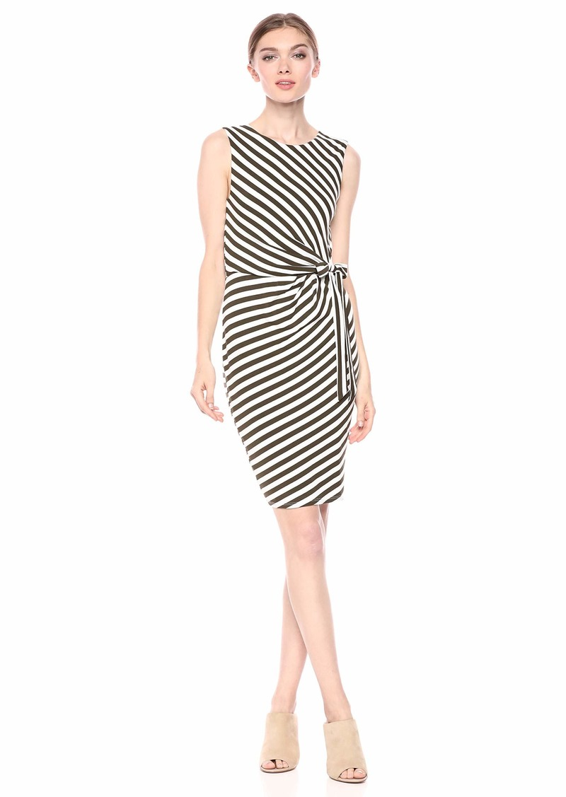 Bailey 44 Women's Mandrill Stripe Waist Tie Detail Dress