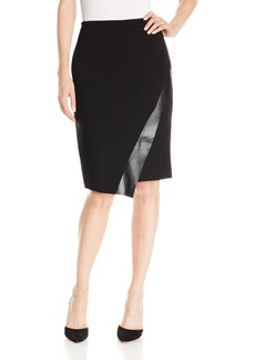 Bailey 44 Women's Meryl Pencil Skirt with Faux Leather Detail