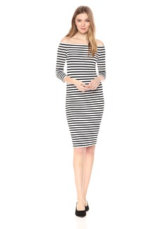 Bailey 44 Women's Off The Shoulder Stripe Galley Down Dress  XS