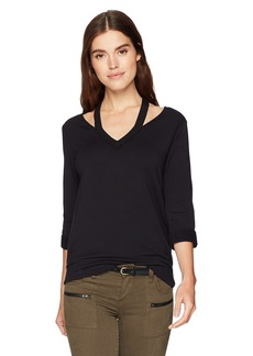 Bailey 44 Women's Sarah V-Neck Super Luxe Fleece Sweatshirt  M
