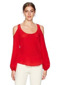 Bailey 44 Women's Scuttlebutt Cold Shoulder Bell Sleeve Top  S