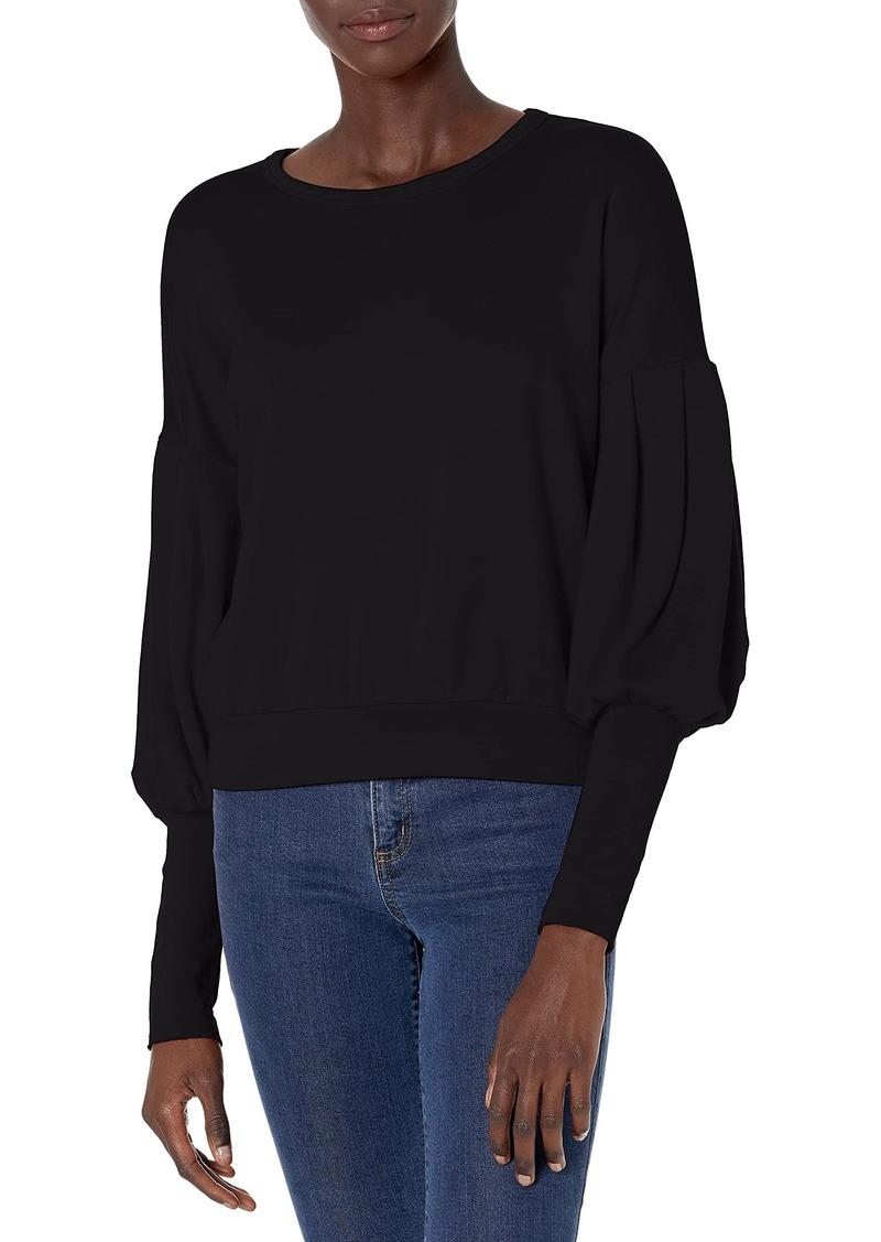 Bailey 44 Women's Siberian Superluxe Fleece Puffsleeve Sweatshirt  M