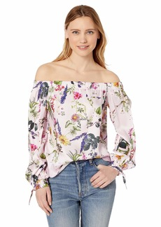 Bailey 44 Women's Tarte Tartin Printed Off The Shoulder Floral Top  XSmall