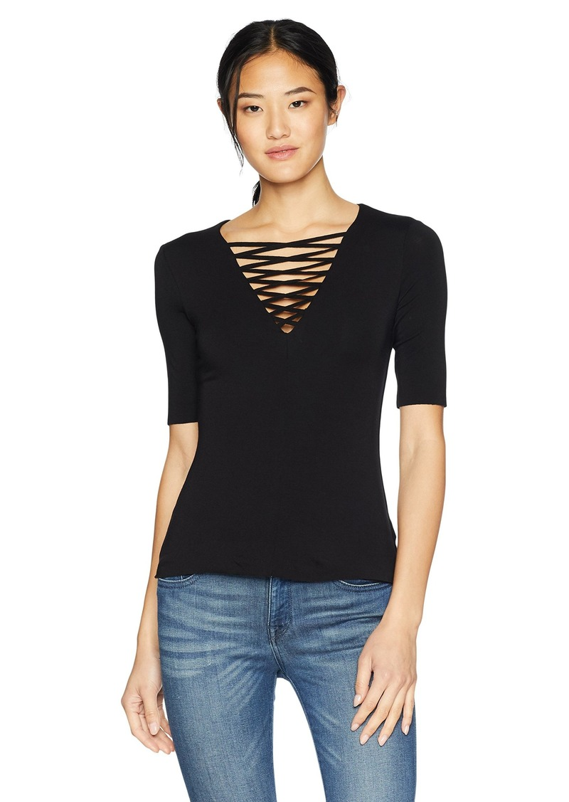 Bailey 44 Womens Alma Mater Lace Up Sleeve Top