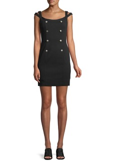 Bailey 44 Commissar Ponte-Knit Sleeveless Mini Dress
