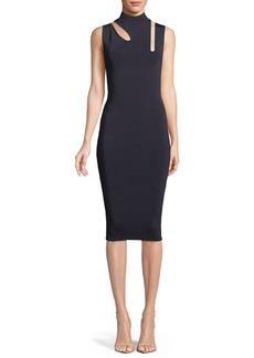 Bailey 44 Debate Cutout Mock-Neck Midi Dress