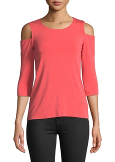 Bailey 44 Denevue Cold-Shoulder 3/4-Sleeve Top