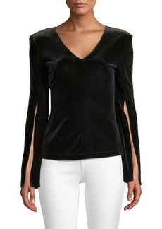 Bailey 44 Dice Velvet Split-Sleeve Top